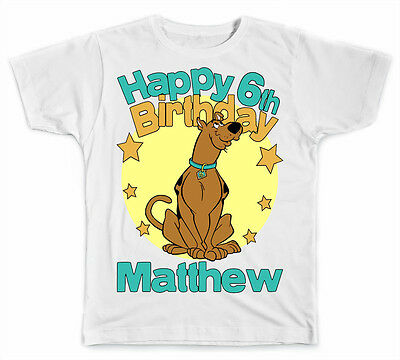 Personalized Scooby Doo Birthday T-Shirt