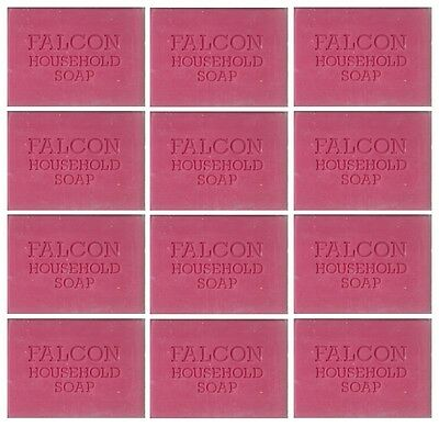 12 x Bars Of Traditional Pink Carbolic Household Laundy Pre Wash Soap 125g Each