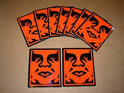 SHEPARD FAIREY Obey Giant Sticker 2.5 X 3 in RED OBEY 10-Pc from poster print