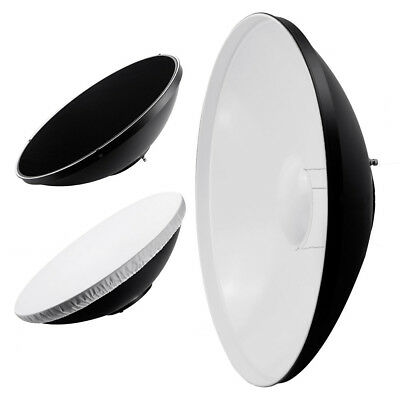"Phot-R® 22"" 56cm White Beauty Dish Diffuser Honeycomb Grid Bowens S-Type Mount"