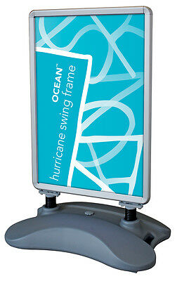 A0 Hurricane Waterbase Pavement Sign Board Poster Holder Swing Frame Stand Water
