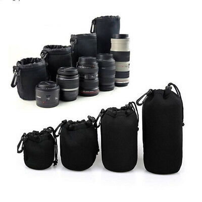 Phot-R 4pcs Neoprene DSLR Camera Soft Lens Carry Case Bag Pouch S M L XL Kit