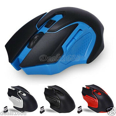 2.4GHz 6D 3200DPI Wireless Optical Gaming Mouse Mice USB For Laptop PC Desktop