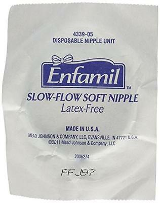 Enfamil Disposable Slow-Flow Soft Nipples, 10 Count, New, Free Shipping