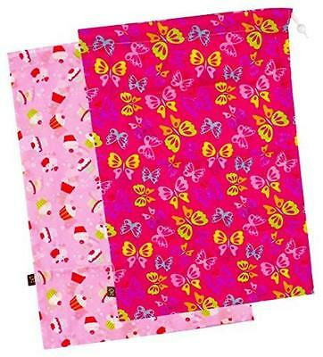 """Kushies """"On The Go"""" 2-Pack Wet Bag, Large, Girl Prints, New, Free Shipping"""