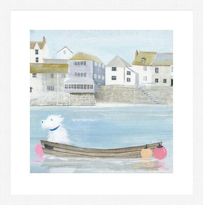 Hannah Cole Framed Print, Ready for the off, black or white frame.