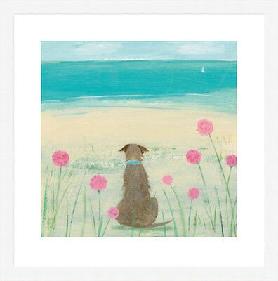 Hannah Cole Framed Print, Amoung the sea pinks, black or white frame.