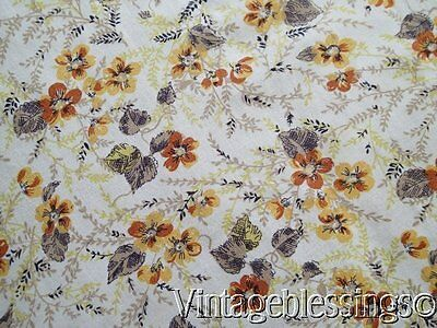 Vintage Floral FULL OPENED Feedsack 42x36 Selvage (2 Avail) Small Scale Floral