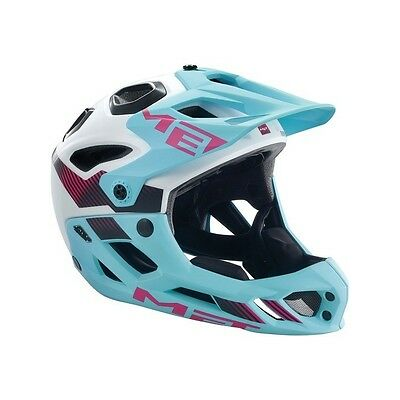 """MET MTB/All Mountain Helmet """"Parachute"""" with fixed mounted chin guard 447478"""