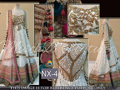 Ghagra Choli Bollywood Indian Designer Party Wear Women Lehenga Pakistani NX4