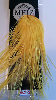 "#2 Metz    Saddle Hackle   "" Yellow "" Feathers    Free Shipping"
