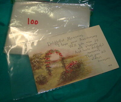 Set 100 Plastic Soft Protective Postcard or Photo Sleeves several sets available