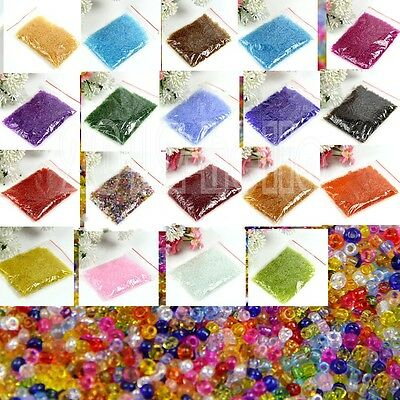 New 2000 Pcs Colorful Round Czech Glass Spacer Loose Beads Jewelry Findings 2 mm