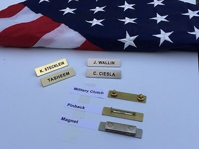 Brass Name Tags Metal Police Fire Military
