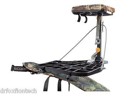 New Hang On Tree Stand 17 lbs Aluminium Noiseless Hunting Bow Crossbow Scorpio S