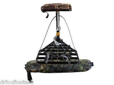New Hang On Tree Stand 17 lbs Aluminium Noiseless Hunting Bow Crossbow Scorpio C