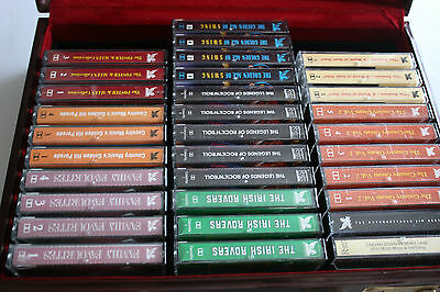 Audio Music Cassette Tapes x 32 with Retro Carry Case Reader's Digest