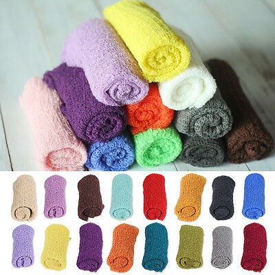 Cute Newborn Baby Stretchy Wrap Photo Photography Prop Outfits Cloth Backdrop