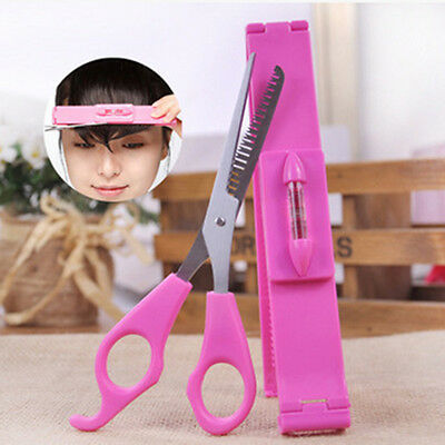 2Pc Salon Bangs Scissors DIY Hair Styling Tools Hair Cutting Scissors With Ruler