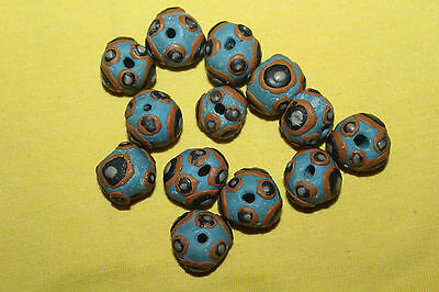 Lot Of 13 old African Rare Beads Authentic Vintage Ethnic Antique Beads