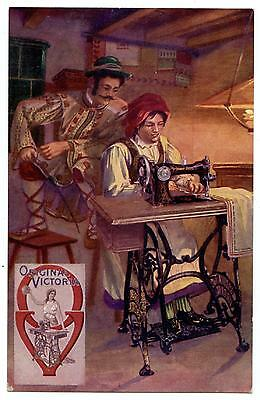 ADVERTISING.ORIGINAL VICTORIA.SEWING MACHINE.GERMANY.PUBLICITé.MACHINE A COUDRE.