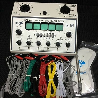 Acupuncture Machine Electric Massager 6 Output Patch I KWD-808