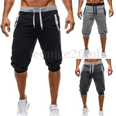 INCERUN Mens 3/4 Knee Casual Sport Rope Baggy Pants Jogger Trousers Capri Shorts