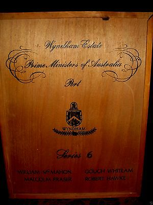 Retro PRIME MINISTERS of AUSTRALIA Wyndham Estate SERIES 6 Wooden Port Box EMPTY