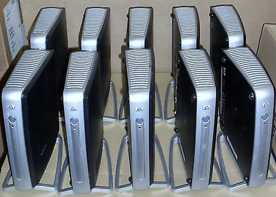 10 X HP T5710 THIN CLIENTS + STANDS ( WIN XPe ) RE-FURBISHED