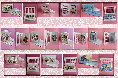 Brother ScanNCut Xmas window notelet card templates CD1039