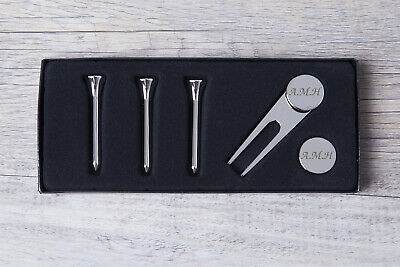 Personalised Engraved Pack of 4 Golf Tees Christmas Gift For Him Dad Grandad