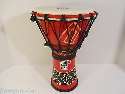 """12 3/4"""" TOCA ROPE-TUNED HAND PERCUSSION DRUM ~ Djembe Lap Bongo Goblet"""