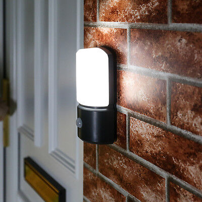 PIR Stainless Steel Double Outdoor Wall Light with With Movement Sensor IP44 ?19.99 - PicClick UK