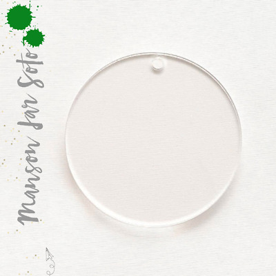 """25 Clear Circle Acrylic Keychains 2"""" Blank Discs 1/16"""" Thick- Acrylic Shapes"""