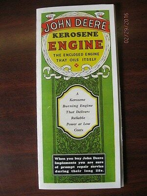 John Deere Kerosene Hit / Miss Engine Brochure