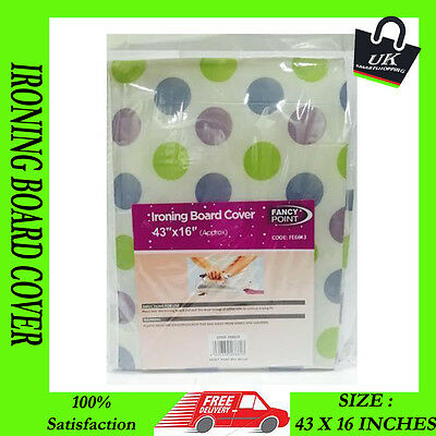 New Washable Ironing Board Cover Foam Backing Table Iron Easy Fit Cord Fastener