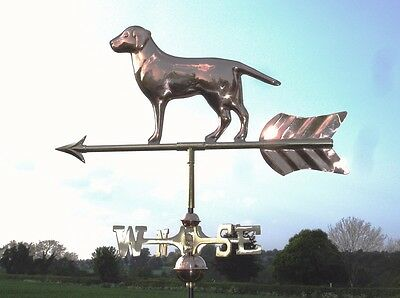 Labrador Polished Copper Weathervane