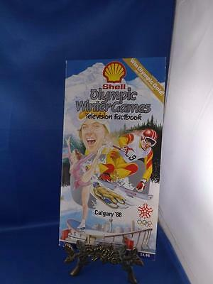 Shell Olympic Winter Games Television Factbook Calgary 1988 Canada Skate Curling