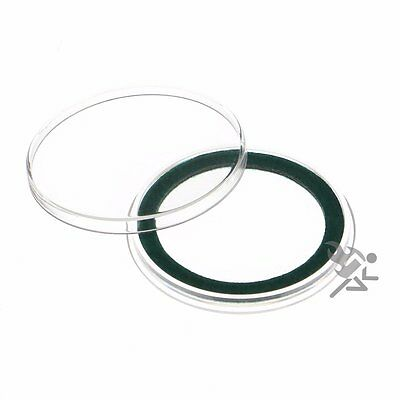 Air-Tite 39mm Green Velour Ring Coin Capsule Holders, 25 Pack