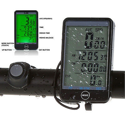 New MTB Bike Bicycle Cycling Computer Odometer Speedometer LCD Backlight Welcome