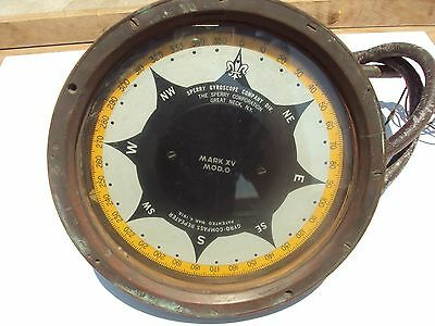 Sperry Gyroscope Compass Repeater for Decor or Memorabilia