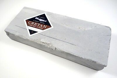 "Cretan Sharpening and Honing Stone WHITE 6 3/4"" (170mm) x 2 3/4"" (70mm)"