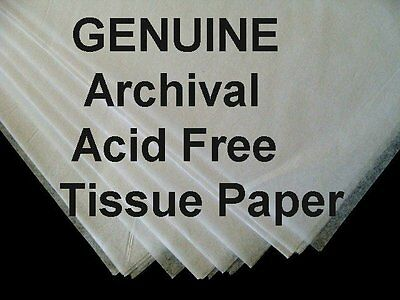 "100 Sheets 15 x 20"" ACID FREE White Tissue Paper UNBUFFERED Archival"