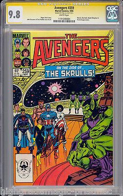 Avengers #259 Cgc 9.8 White Ss Stan Lee Signed Highest Graded Cgc #1191200004