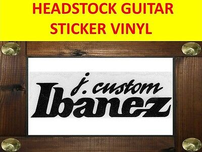 Ibanez J. Custom Black Headstock Decal Sticker Visit My Store Customized Guitar