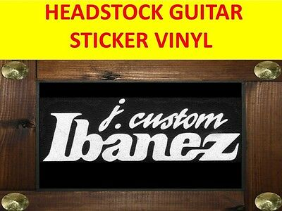 Ibanez J. Custom White Headstock Decal Sticker Visit My Store Customized Guitar