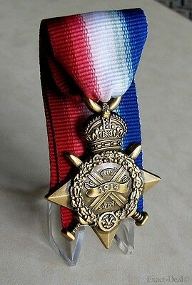 U.K British Armed Forces World War I Campaign The 1914 Star Mons Star Medal