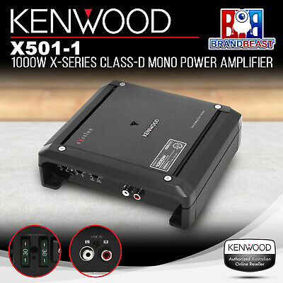 New Kenwood X501-1 1000W Class D Monoblock Car Audio Stereo Amplifier Sub Amp