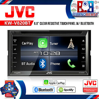 "Jvc Kw-V820Bt 7"" Bluetooth Multimedia Car Stereo Apple Carplay App Mode Siri"