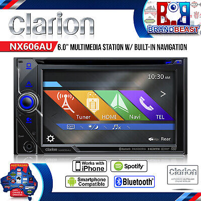 "Clarion Nx606au 6"" Nav Multi Media Car Reciver 2din Cd Usb Ipod Bt Sd Hd Screen"